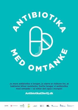 Antibiotika med omtanke logo på plakat