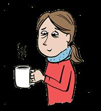 Kvinde med en kop the